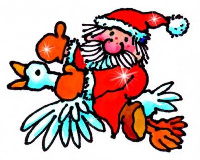 Mini Fensterbild Weihnachtsmann im Flug