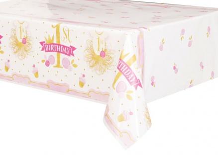 1. Geburtstag Rosa und Gold Tischdecke