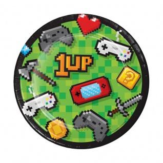 8 kleine Teller Gaming Party