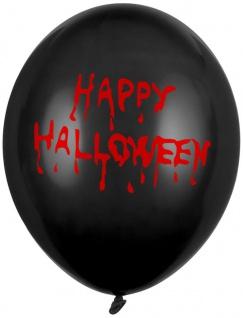 6 Happy Halloween Luftballons Vampir