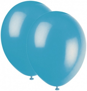 10 Luftballons Bermuda Blau