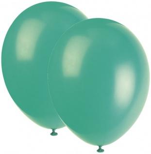 10 Luftballons Karibik Blau