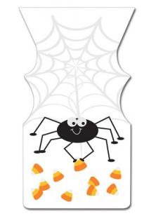 12 Halloween Zipper Tüten Spinnen