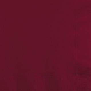 50 Servietten Burgund - Weinrot 3-lagig