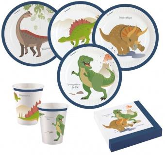 36 Teile Dinosaurier Classics Geburtstags Party Set für 8 Kinder