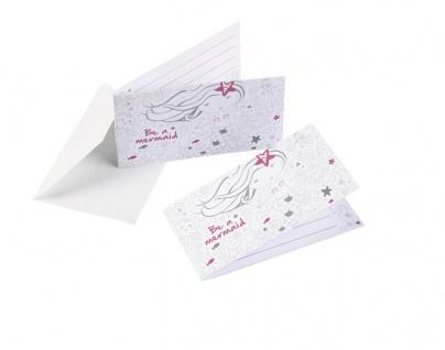 8 Einladungskarten Meerjungfrau