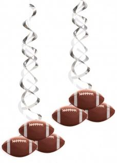 2 hängende Deluxe Girlanden American Football Superbowl