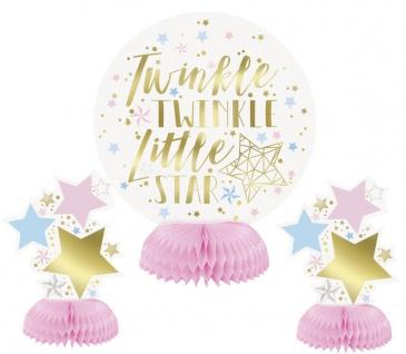XXL 51 Teile Dritter Geburtstag Deko Set Twinkle little Star in Rosa und Gold 8 Personen 3. Geburtstag - Vorschau 4