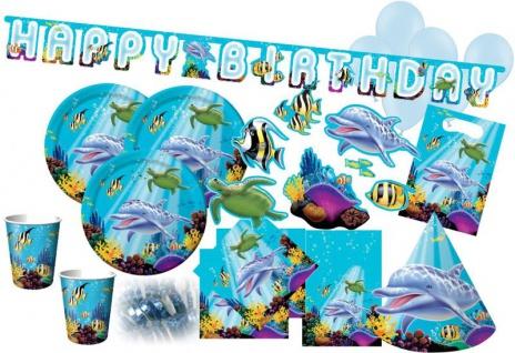 XXL 68 Teile Ozean Party Deko Set für 8 Kinder