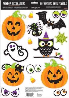 15 Fensterbilder Fröhliches Halloween