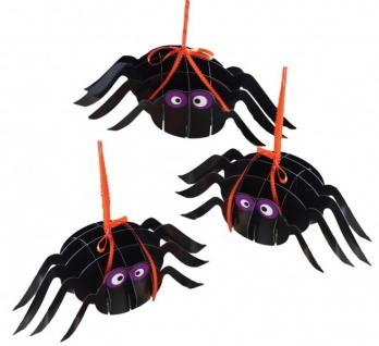 Halloween Deko 3 hängende Spinnen