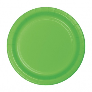 8 kleine Pappteller Limonen Grün