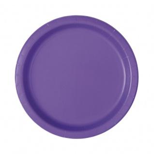 20 kleine Papp Teller Neon Violett