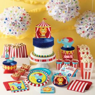 Zirkus Party Set zum 2. Geburtstag 8 Personen - 32 Teile - Vorschau 5