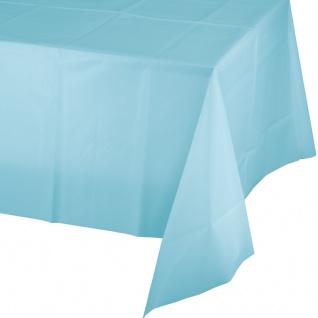 Plastik Tischdecke Pastell Blau