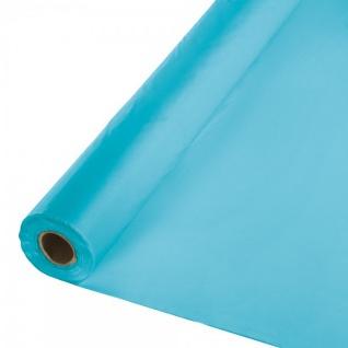 30 Meter Rolle Plastik Tischdecke Bermuda Blau