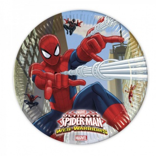 8 Spiderman Web Warriors Papp Teller