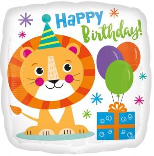 Geburtstags Folien Ballon Löwe