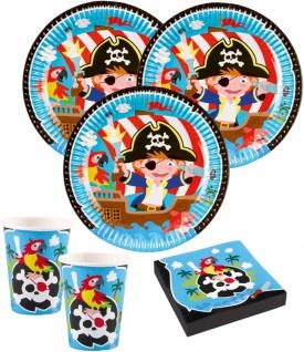 52 Teile Piraten Abenteuer Party Deko Set 16 Kinder