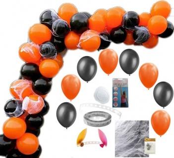DIY Ballongirlanden Set Halloween Schwarz Orange