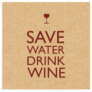 Save Water Brown Servietten
