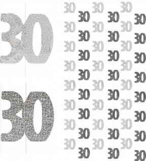 30. Geburtstag Glitzer Girlanden Schwarz