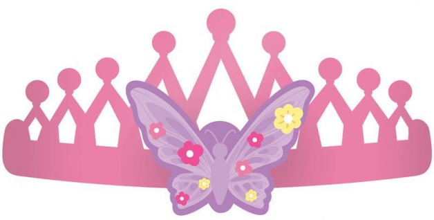 8 Krönchen aus Papier kleine Prinzessin