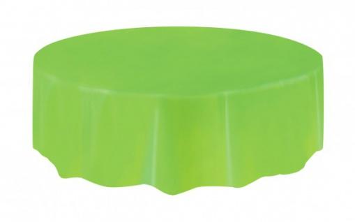 Runde Plastik Tischdecke Hellgrün