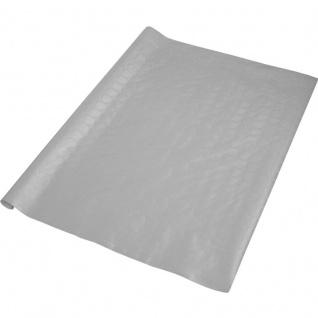 Papier Tischdecke in Silber - Damast Optik 8 Meter Rolle
