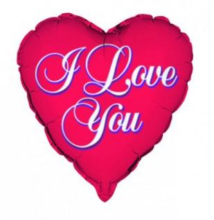 I Love You Folienballon