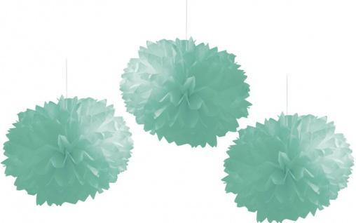 3 Dekobälle aus Seidenpapier in Mint