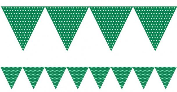 Wimpel Girlande Grüne Punkte