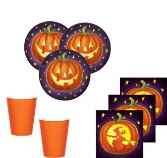48 Teile kleines Fingerfood Halloween Deko Set Kürbis Kunst 16 Kinder