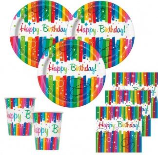 XL Party Deko Set Regenbogen Geburtstag für 16 Personen - Vorschau 2