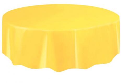 Runde Plastik Tischdecke Sonnenblumen Gelb