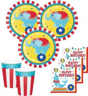Zirkus Party Set 8 Personen - 32 Teile