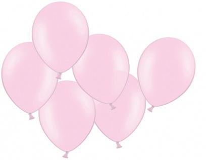 10 Pastell Rosa Luftballons