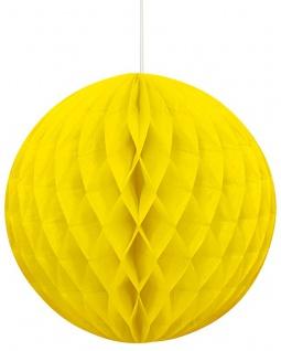 Wabenball in Neon Gelb