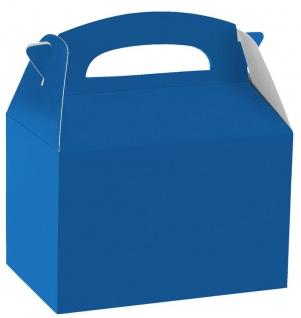 1 Stück Geschenk Box aus Karton in Königs Blau