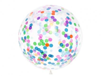 XXL Luftballon mit buntem Konfetti 1 m