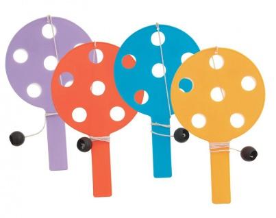 12 kleine Paddleballs mit Punktefeld