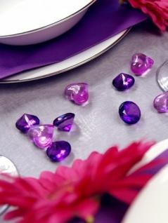 10 Deko Plastik Diamanten lila - 20 mm Durchmesser - Vorschau 4