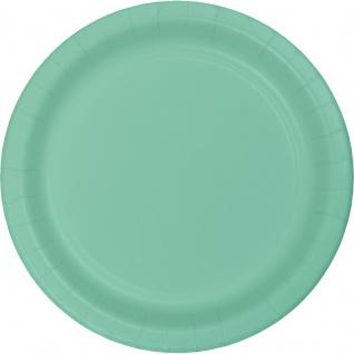 24 große Papp Teller Mint 26 cm Durchmesser