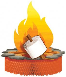 Tischaufsteller Lagerfeuer, Zelten und Angeln
