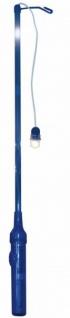 Elektrischer Laternenstab Blau mit Blinklicht