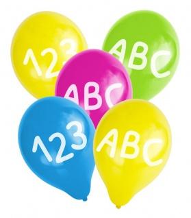 20 Servietten + Girlande + 5 Luftballons + Konfetti zum Schulanfang - Vorschau 5