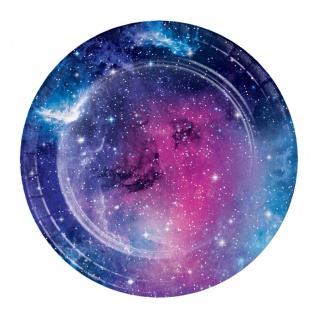 8 kleine Teller Galaxy Party