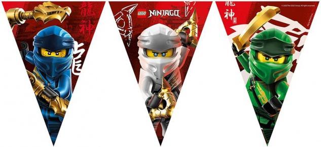 Lego Ninjago Wimpel Girlande aus Papier