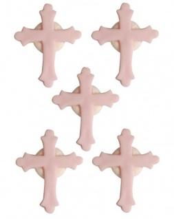 Zuckerfiguren Kreuz Rosa