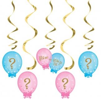 5 hängende Girlanden Babyparty Schleife oder Schlips? - Vorschau 1
